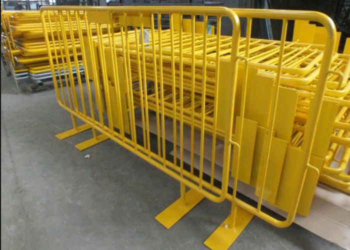 Multi purpose temporary mesh fence with concrete filled