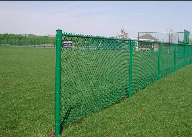 diamond hole green wire fencing black cyclone fence easy assembled