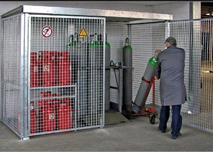 Industrial Gas Cylinder Storage Of Propane Gas Cylinders