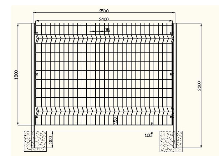 Acid Resisting Square Welded Wire Mesh , Welded Wire Fence Panels ...