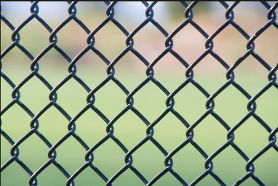 Pvc Coated Chain Link Fence With Barbed Wire On top Size Customized