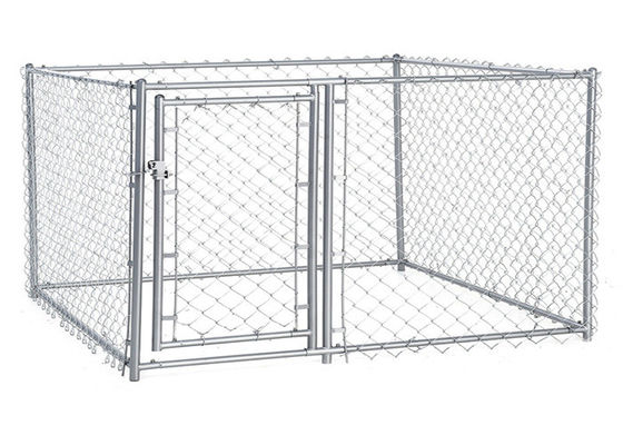 China Multi Function Metal Dog Kennel Dog Cages For Outside 60mm*60mm Mesh factory