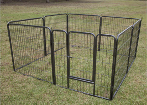China Eco Friendly Large Dog Fence Kennel , Chain Link Dog Kennel Flooring factory