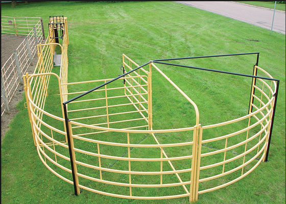 Portable Goat Fence Panels / Galvanized Livestock Fencing Simple Structure