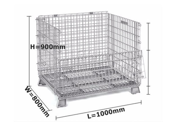 Professional Metal Cage Containers / Galvanised Steel Cages For Storage