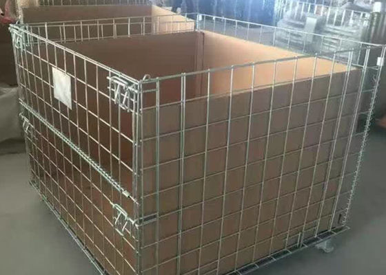 Anti Corrosion Steel Wire Stackable Storage Cage 500-2000kg Capacity