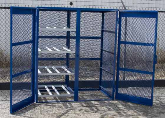 China Different Sizes Fuel Storage Cage , Durable Gas Canister Cage Anti Theft factory