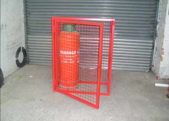 China Heavy Duty Gas Cylinder Cages Multi Colors Flexible / Foldable High Security factory
