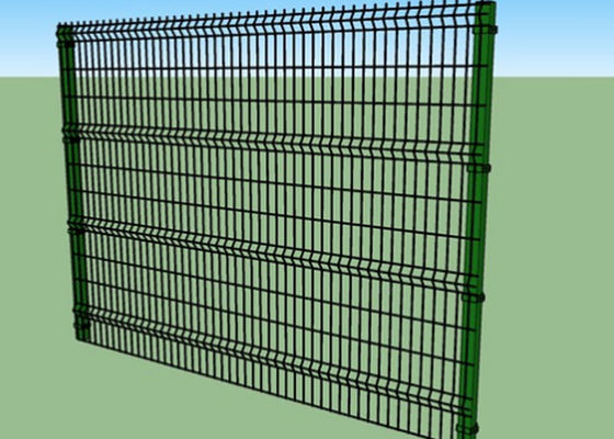 1.8m Height Vinyl Coated Welded Wire Fence Panels 4.0 / 5.0 / 6.0mm Wire Diameter
