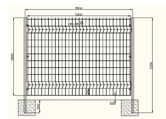 Acid Resisting Square Welded Wire Mesh , Welded Wire Fence Panels Simple Structure