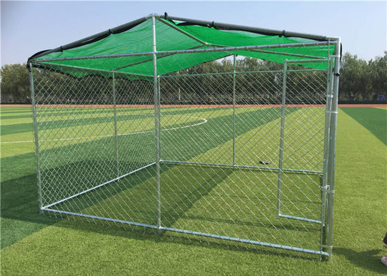 China Large Dog Kennels For Outside / Large Dog Enclosures Outdoor With Roof Tube factory
