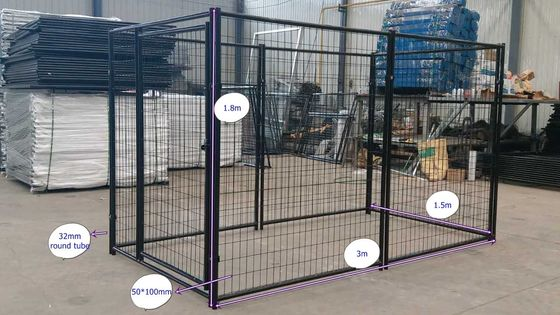 Heavy Duty Welded Wire Dog Kennel / Lucky Dog Uptown 5' W*10' L*6' H Dog Kennel