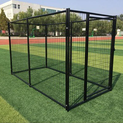 China Welded Wire Mesh Outdoor Dog Kennel Durable Black Color Easy To Install factory