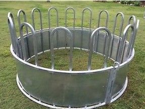 Galvanized Steel Tube Material Cattle Corral Panels , Galvanized Hay Feeder For Sheep / Cattle