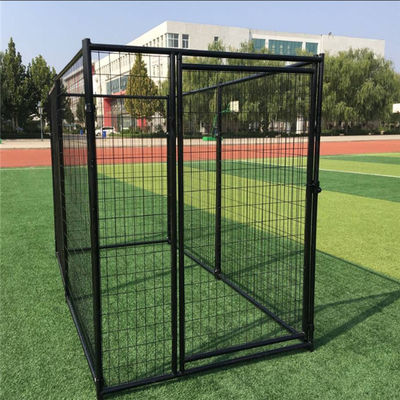 Powder Coated Galvanized Metal Dog Kennel , Welded Dog Cages