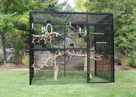 China Customized Large Outdoor Bird Aviary 8' Hexagon Cheek'S 3.2mm Wire Dia factory