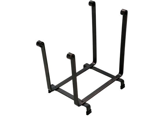 China Precision Black Steel Fence Hearth Firewood Log Rack 18H *17L Bronze Color factory