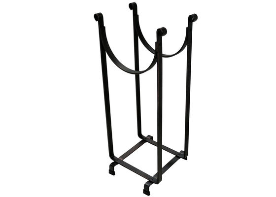 China 6 Foot Rectangular Welded Firewood Rack Holder Steel Wood Storage Racks factory