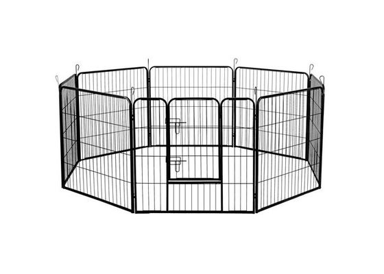 Black Silver Strong Metal Puppy Dog Play Pen Square Tube 1.5m Width