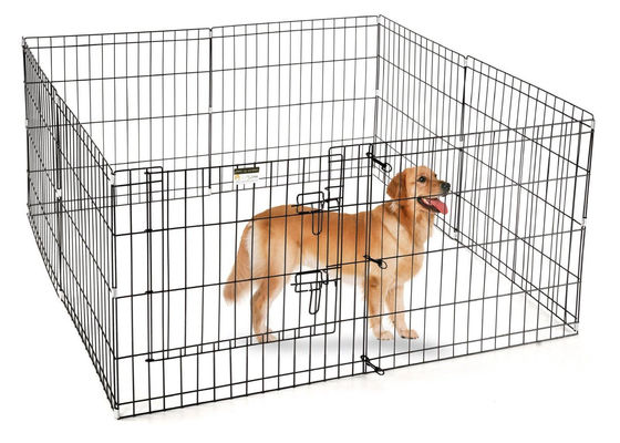 China Rust Resistant Large Outdoor Dog Run , Wire Steel Dog Pen 3.0m Length factory