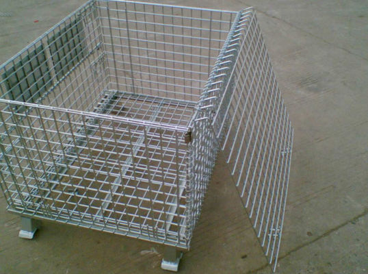 China Galvanized Industrial Storage Cage  / Lockable Wire Cages 4.0-5.0mm Wire Dia factory