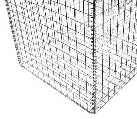 Construction Gabion Wire Mesh Rock Basket Retaining Wall 4.0mm-5.0mm Wire Gauge
