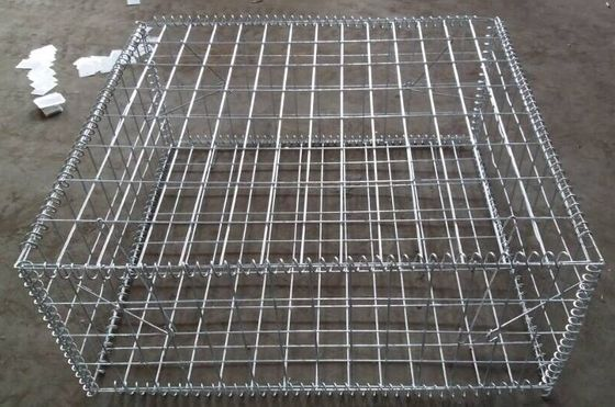 2*1*1 M Galvanized Welded Gabion Basket Boxes For Retaining Wall