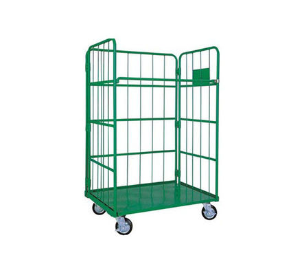 China Steel Wire Foldable Rolling Trolley Tool Cart for Warehouse Logistic Workshop factory