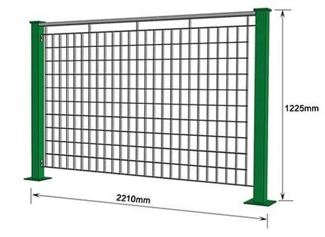 Powder Coated Galvanized Steel Bar Electro Welded Modular Grating Fence