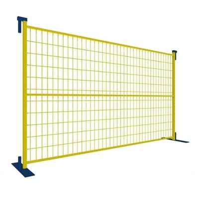 6'*9.5' PVC Coated Portable Fence Panels , Temporary Construction Fence Security
