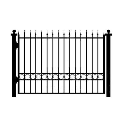 House Gates Design Garden Black Iron Fence Panels , Outdoor Metal Fence