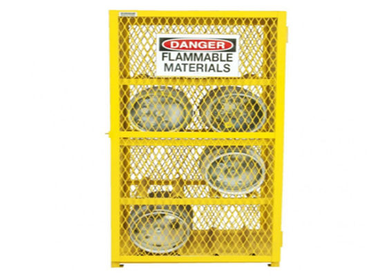 Powder Coated Gas Cylinder Storage Cage , Gas Bottle Safety Cages For 24 Gas Cylinders