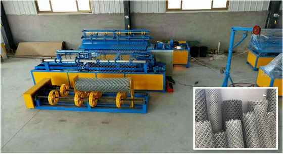 Automatic Single Wire Mesh Machine , Chain Link Fence Equipment 380V/50HZ