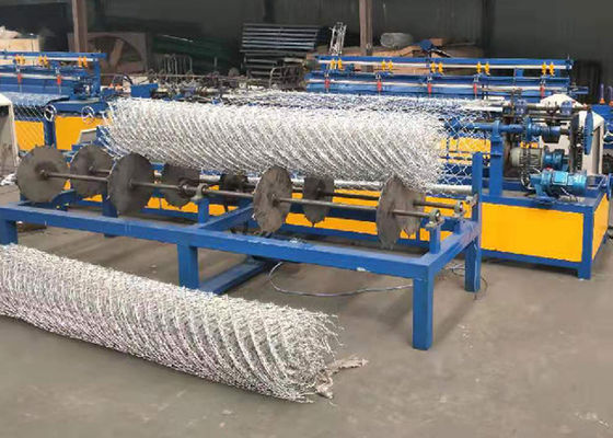 China Low Noise Chain Link Fence Weaving Machine High Working Efficiency factory