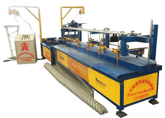 High Speed 250m2/ hour Iron Fully Automatic Chain Link Machine For 2-6m Width