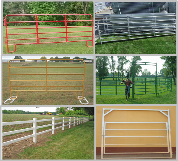 Sliver / Green / Red Color Cattle Corral Panels Removable 2100mmL*1800mmH