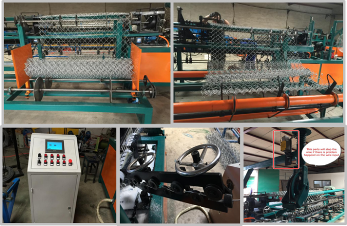 Industrial PLC System Control Chain Link Machine For Weave Chain Link Fence