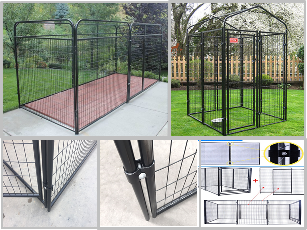 Professional Grade Modular Dog Kennels , Outside Dog Kennels For Large Dogs