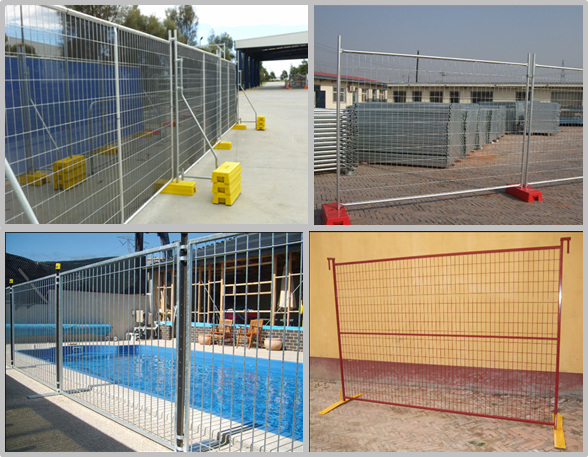 Protecting Temporary Site Security Fencing , Mobile Security Fence Movable