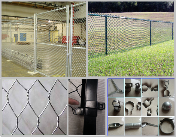 Environmental Galvanized Steel Wire Mesh , Chain Link Wire Fence Easy Maintain