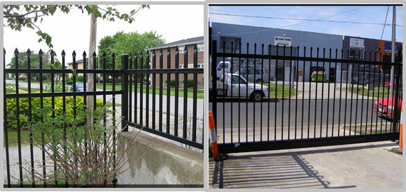 2.4mL* 1.8mH Black Steel Fence For Home / School Beautiful Appearance