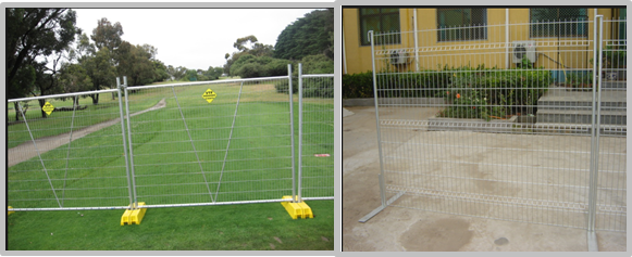 Multi Purpose Temporary Mesh Fence With Concrete Filled Plastic Feet / Clamps
