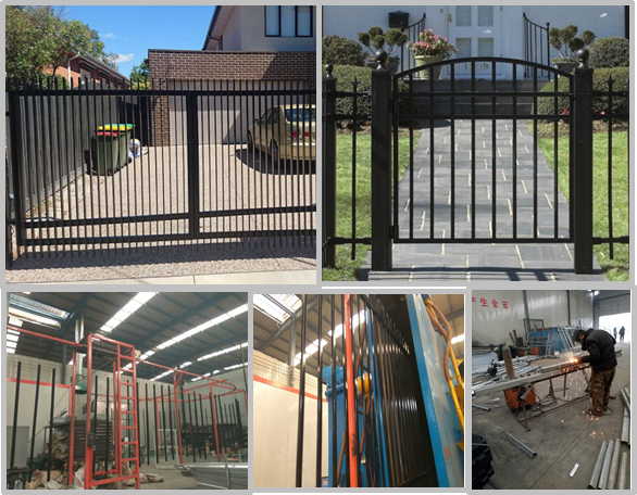 High Hardness Customized Black Steel Fence With Durable Surface Treatment
