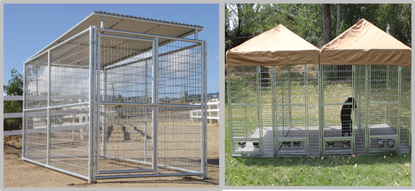 Safety Welded Wire Metal Dog Kennel Anti Rust Multiple Sizes 8'L*8'W*6'H