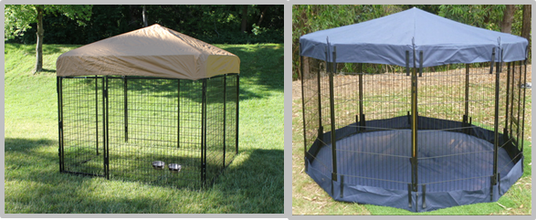 Portable Large Dog Pens For Outside , Animal Steel Dog Pen No Sharp Edges