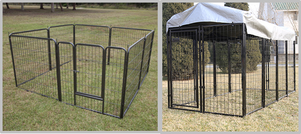 Zinc Plating Movable Metal Dog Kennel Outside Dog Cages For Large Dogs