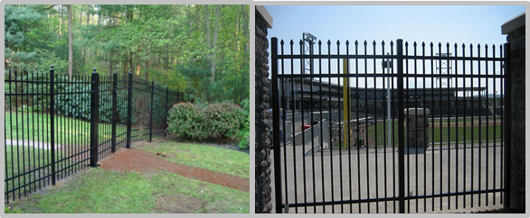 Easy Install / Handle Decorative Wrought Iron Fence Panels Maintenance Free