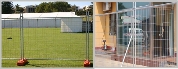Heavy Duty Outdoor Temporary Mesh Fence For Event / Sports Weather Resistant