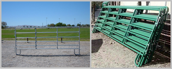 Powder Coated Galvanized Cattle Corral Panels Good Oxidation Resistance