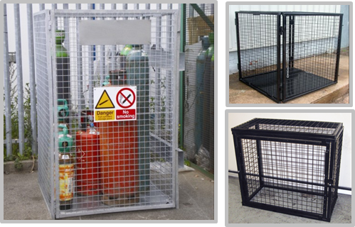Heavy Duty Metal Gas Bottle Storage Cage Lockable Cage For Gas Bottles